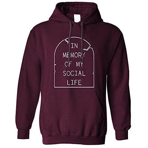 In Memory Of My Soziales Leben Funny Anti Social Slogan Kühlen Kapuzenpullover