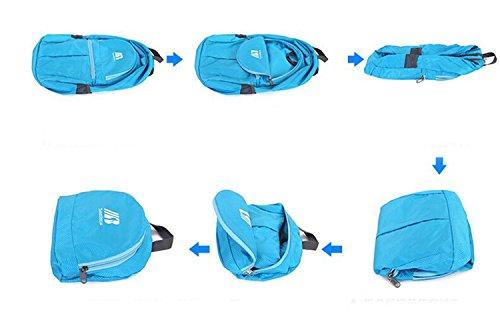 der rucksack portable multifunktions - kleine faltbare großen raum freizeit outdoor - sport auf reisen mit tasche wandern business - studenten packen 5colors H43 x L30 x T16 CM fluorescent green