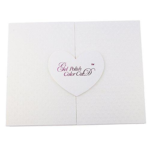 126 Farben Nagel Präsentation Display Karte Gel Buch, Fingernägel Dekor Anzeige - Weiß