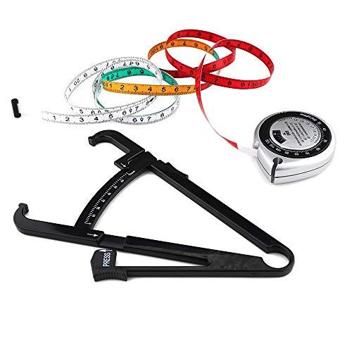 CSFM-Tool Fat Tester Körperfett-Bremssättel messen Gewicht-Verlust-Rechner-Clip-Prozentsatz mit Maßband