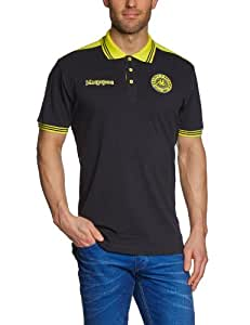 Kappa Polo Shirt Soccer, Black, S, 302787