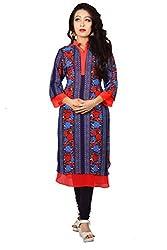 Maasha Women's Georgette Kurti (Maashakurti1045_Multicolor_Medium)