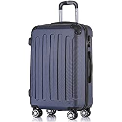 BEIBYE 2045 Hartschale Koffer Kofferset Trolley Reisekoffer Größe XL-L-M in 12 Farben (Dunkelblau, M)