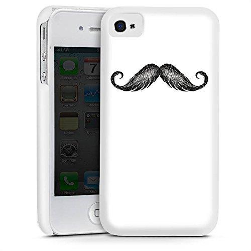 Apple iPhone 5s Housse Étui Protection Coque Moustache Moustache Gris Cas Premium mat