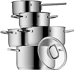 WMF 1730156380 Intension Kochgeschirr-Set, Edelstahl Rostfrei, 5-teilig