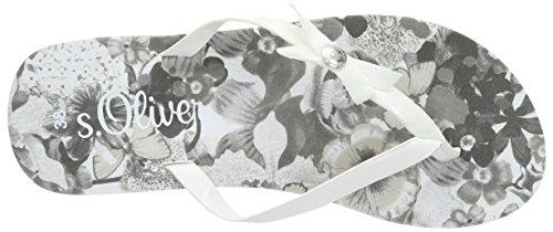 s.Oliver - 27112, Sandali infradito Donna Bianco (Weiß (WHITE PATENT 123))