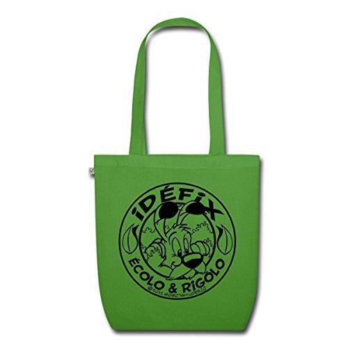 asterix-obelix-ecolo-et-rigolo-idefix-sac-en-tissu-biologique-de-spreadshirtr-vert-feuille