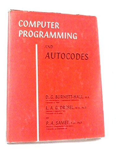 Computer Programming and Autocodes (Applied Mathematics)