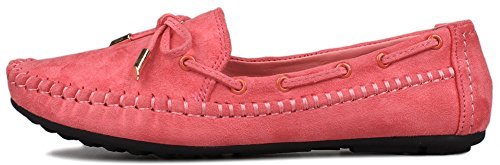 Fangsto  Boat Shoes, Basses femme Rouge