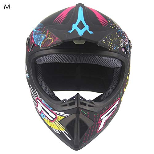Casco da Motocross per Fuori-Strada - caschi da Corsa da Strada per Casco Integrale da Corsa Four Seasons Cross-Country