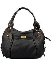 Spice Art Elegant Leatherite Handbag (Black)