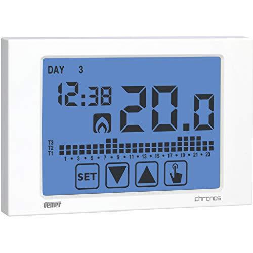 Vemer VE451100 Cronotermostato Chronos Touch Screen da Parete, Bianco