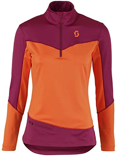 SCOTT Damen Layerlangarmshirt rot sangria purple/orange cru
