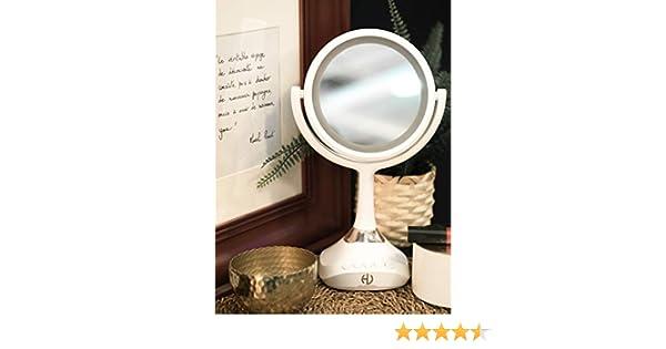 GHONLZIN Miroir de Maquillage pli/é LED 10x Miroir de vanit/é /éclair/é grossissant avec LED Blanche Naturelle 1#