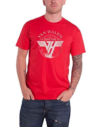 ffee5fb29 Van Halen T Shirt 1979 Tour Band Logo New Official Mens Red Size XL