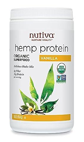 Nutiva Organic 454g Vanilla Hemp Shake Drink