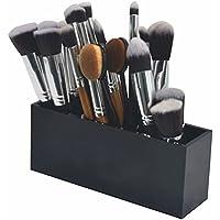Lmeison Make-up Kosmetik 3 Slots Make-up Organizer Acryl  Bürsten Aufbewahrung 17.8 X 7 X 5.2 cm (schwarz)