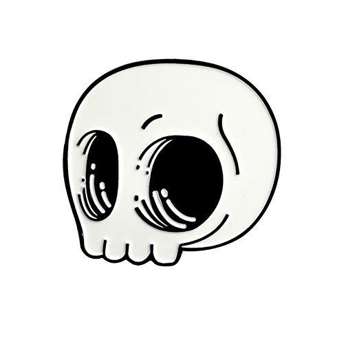 NSXZ Brosche Stifte und Broschen Skeleton Skull Pin Hartemaille Pin Punk Schmuck Jacken Kragentasche Rucksackzubehör