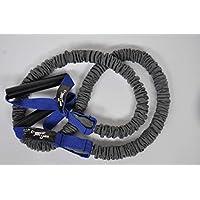 Dittmann Banda de fitness de tubo expansible prémium, revestimiento de nailon, color azul, extra fuerte