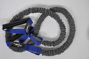 DITTMANN Premium BodyTube Expander Fitnessband Nylonummantelung blau/extra stark
