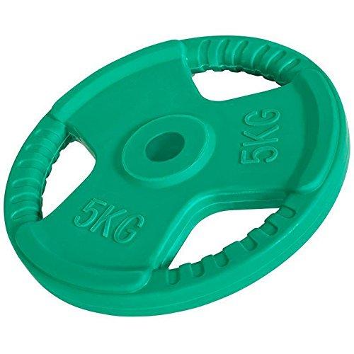 Hantelscheiben Gripper Gummi 1,25kg-25kg, 30/31mm (5 KG (Grün))