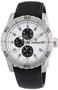 Festina - F16607/1 - Montre Homme - Quartz Analogique - Aiguilles Luminescentes - Bracelet Cuir Noir