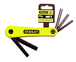 Stanley 6926022 5 Piece Imperial and Folding Hex key Set