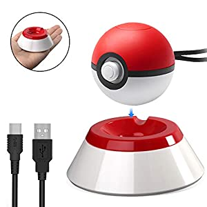 Cyberkit Poke Ball Plus Ladestation, mit USB-Ladekabel für Nintendo-Schalter Pokeball Plus Controller Pokemon Let's Go Pikachu