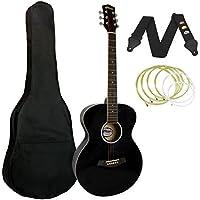 Tiger ACG2-BK - Guitarra acústica (incluye accesorios), color negro