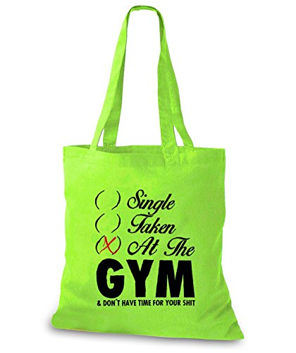 StyloBags Jutebeutel / Tasche Single Taken At The Gym Lime
