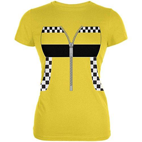 Halloween Taxi Fahrer Kostüm Cab Junioren weichen T Shirt hell gelbe X-LG (Halloween Taxi Kostüm)