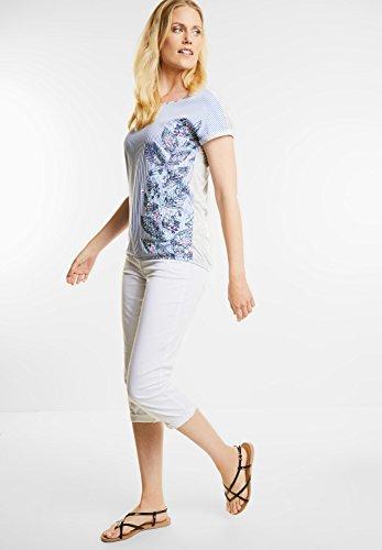 CECIL Damen Shirt im Streifen-Printmix deep blue (blau)