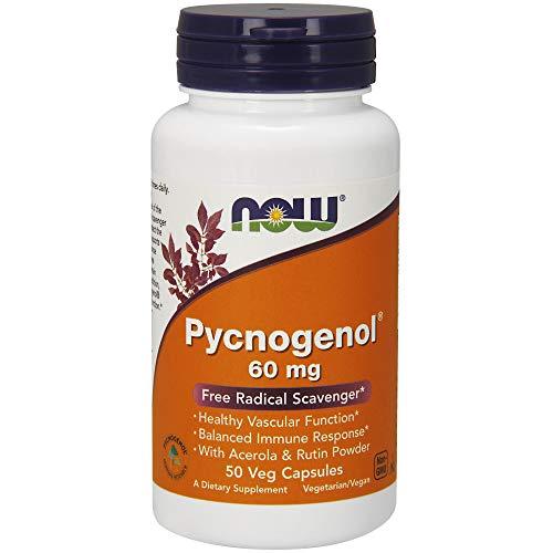 NOW Foods Pycnogenol 60mg, 50 Vegetarian Capsules