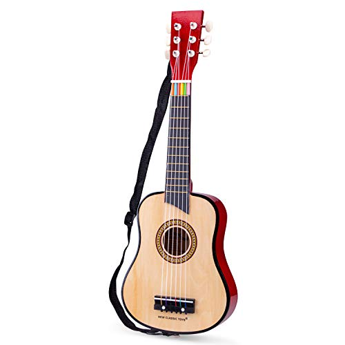 New Classic Toys - 10304 - Musikinstrument - Spielzeug Holzgitarre - Deluxe - Naturell