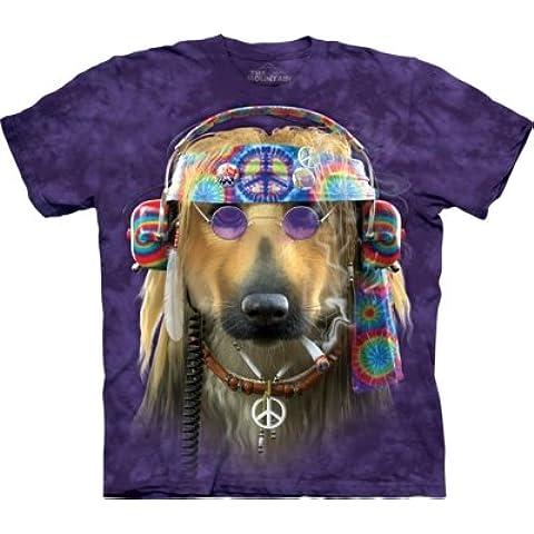 Unisex la paz perro camiseta Eco Friendly T Shirt–la montaña–Cúpula tamaño pequeño mediano y grande XL (tamaño mediano)