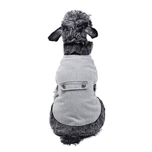 PAWZ Road Cuello de Piel sintética de Ropa para Perro pequeños, Mascota Abrigo de Invierno Super cálido...