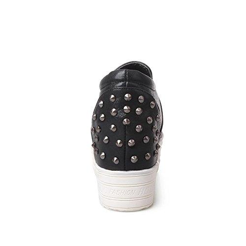BalaMasa da donna, colori assortiti, in pelle, con elastico Imitated pompe-Shoes Nero (nero)