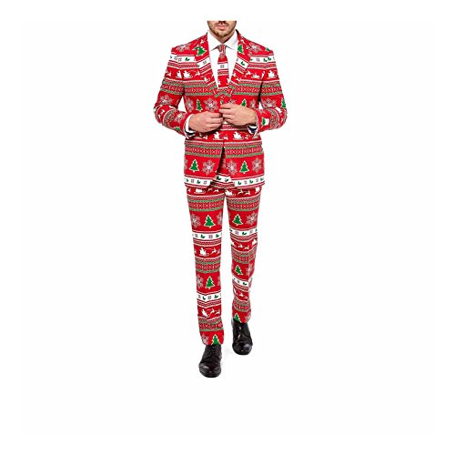 Mens Verrückt Suits (Winterwonderland Kostüm Opposuits für)