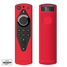 Mission Sleeves für Fire TV Voice Remote,Bonbonrot
