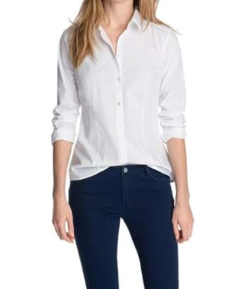 Esprit - blouse - coupe droite - femme -  Blanc - 46