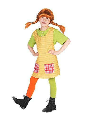 Pippi Kostüm Langstrumpf Kleinkind - KULTFAKTOR GmbH Pippi Langstrumpf Kinderkostüm Lizenzware bunt 98/104 (3-4 Jahre)