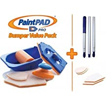 Paint Pad Pro Bumper Paint Pad Set c/w Optional Extension Pole and 4 Additional Pads. As seen on TV