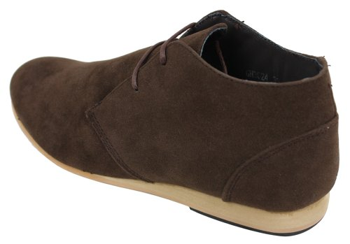 Del Zapatos Hombre Beige Altura Imitación Azules De Ante De Marrón Marrón De Botas La Tobillo Negro Marina rR61gqrxwW