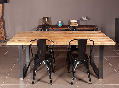 Tavoli In Legno Massello Rustici : Xlab design tavolo in legno massello rustico gabry