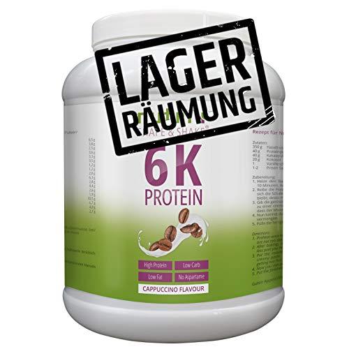 EIWEIßPULVER CAPPUCCINO 1kg - Nutri-Plus Shape & Shake mit Whey-Isolat & Kasein - Koffeinhaltig - Mehrkomponenten Protein Pulver mit Kaffee - In Deutschland hergestellt