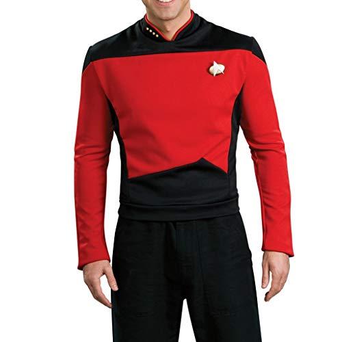 K-Flame Star Trek The Next Generation Langarm Uniform Halloween Erwachsene Cosplay Party Shirt Herren Kostüm Performances - Star Trek Red Shirt Für Erwachsene Kostüm