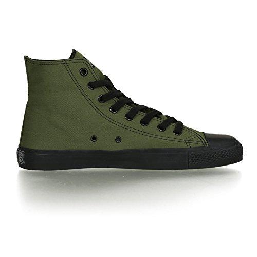 Ethletic Black Cap HiCut / High-Sneaker aus Bio-Baumwolle – grün / schwarz – fair & nachhaltig - 5