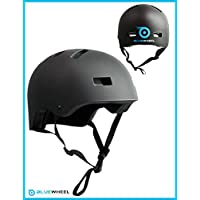 Bluewheel Helmet H30 – 3-layered structure for more safety and comfort, with ventilation system, in matte black design - protects both children and adults alike