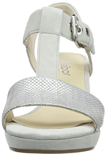 Gabor - Gabor Comfort, Sandali Donna Grau (40 argento/marmor)