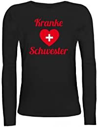 Shirtstreet24, Fasching - Kranke Schwester, Kostüm Karneval Lady / Girlie Langarm T-Shirt